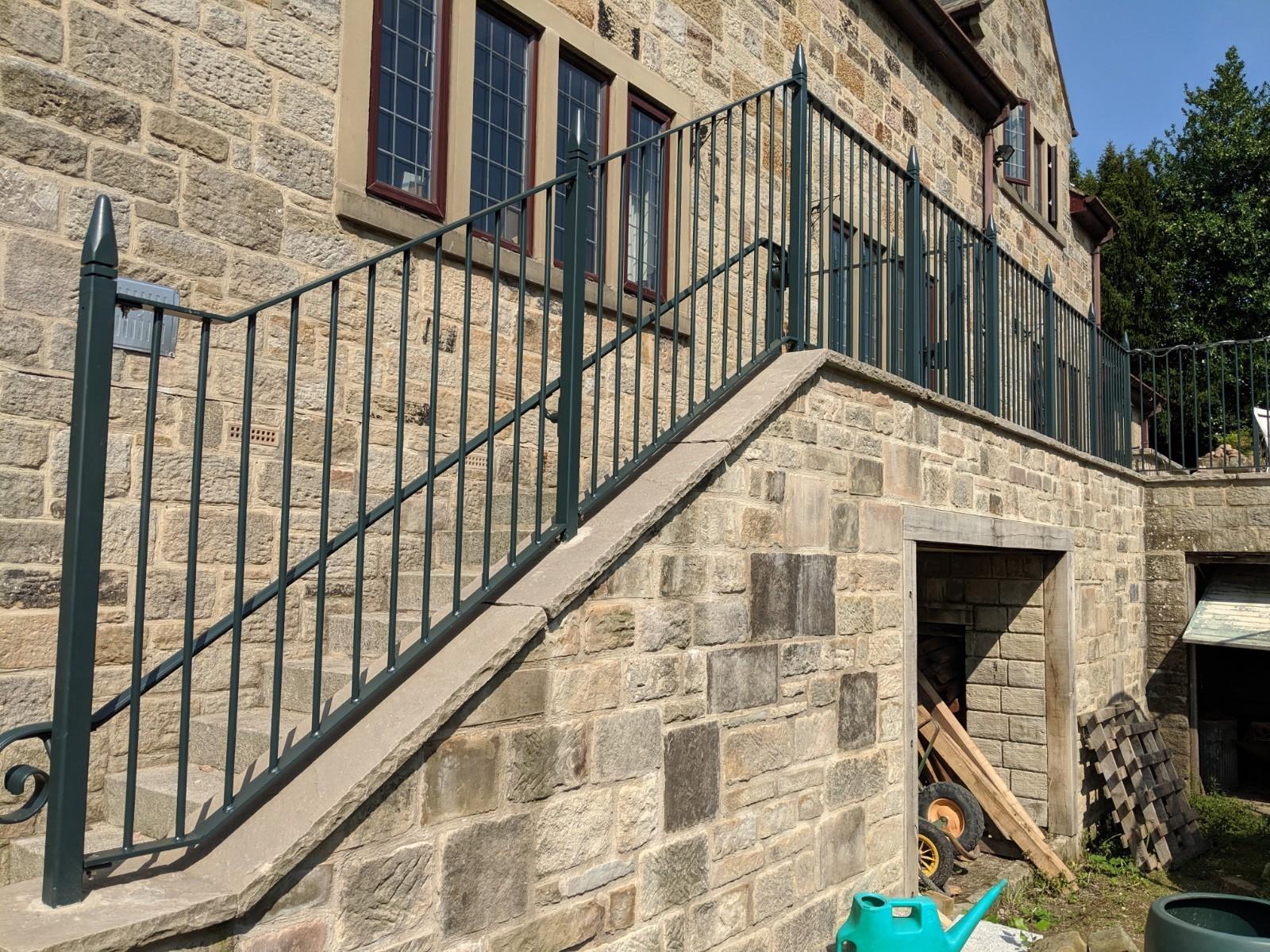 Bespoke flat top railings