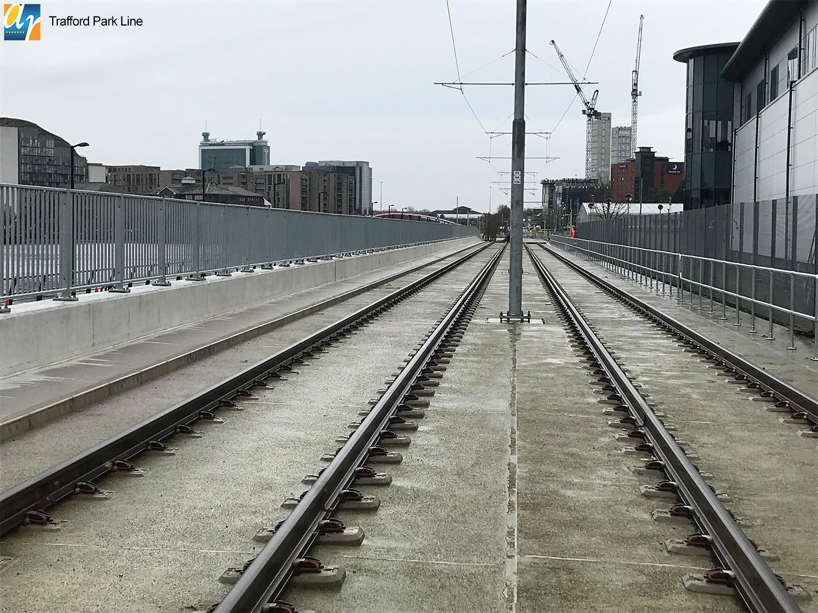 Trafford Park Line pedestrian parapet manchester
