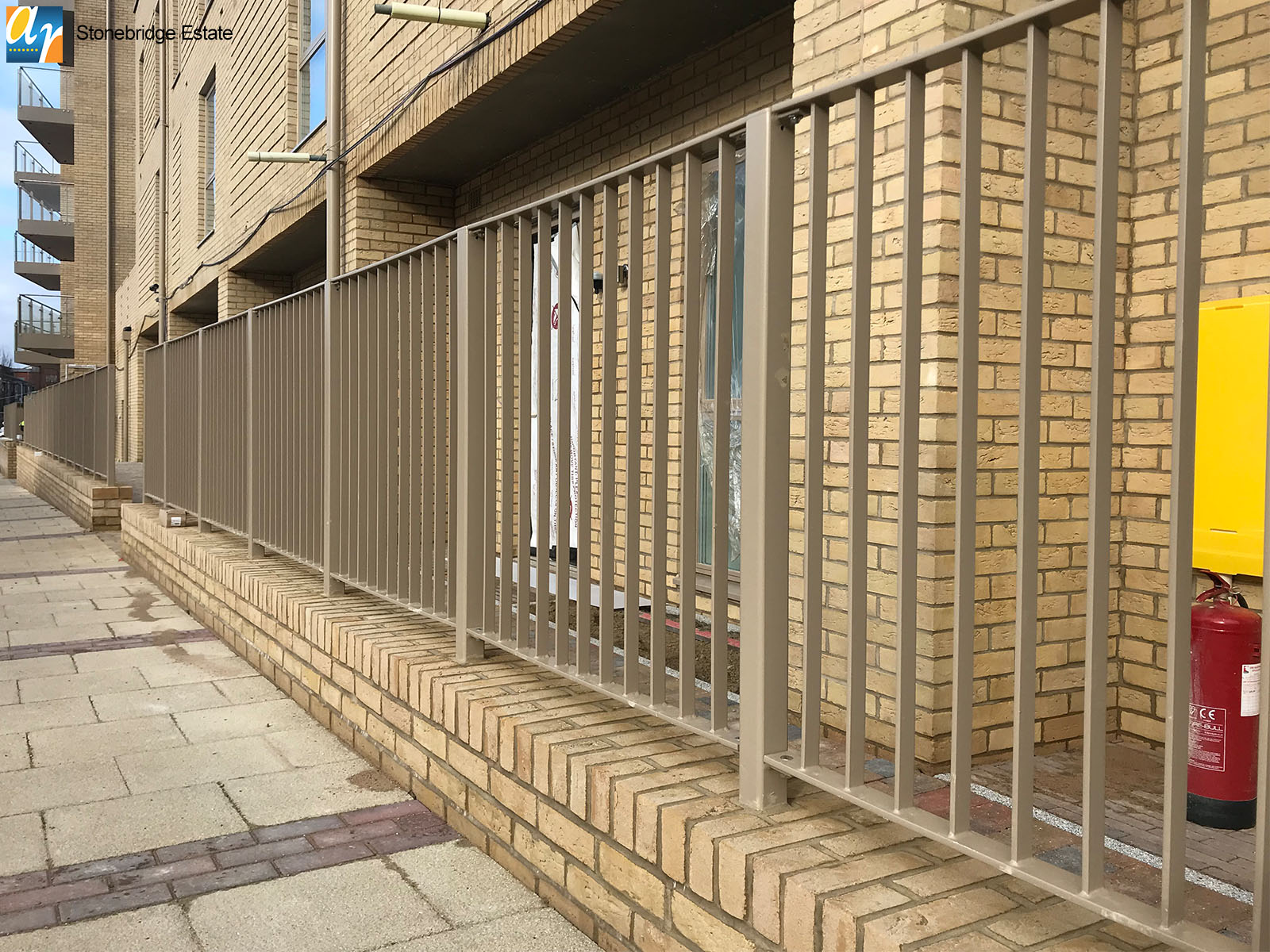 Stonebridge Estate flat bar infill railings