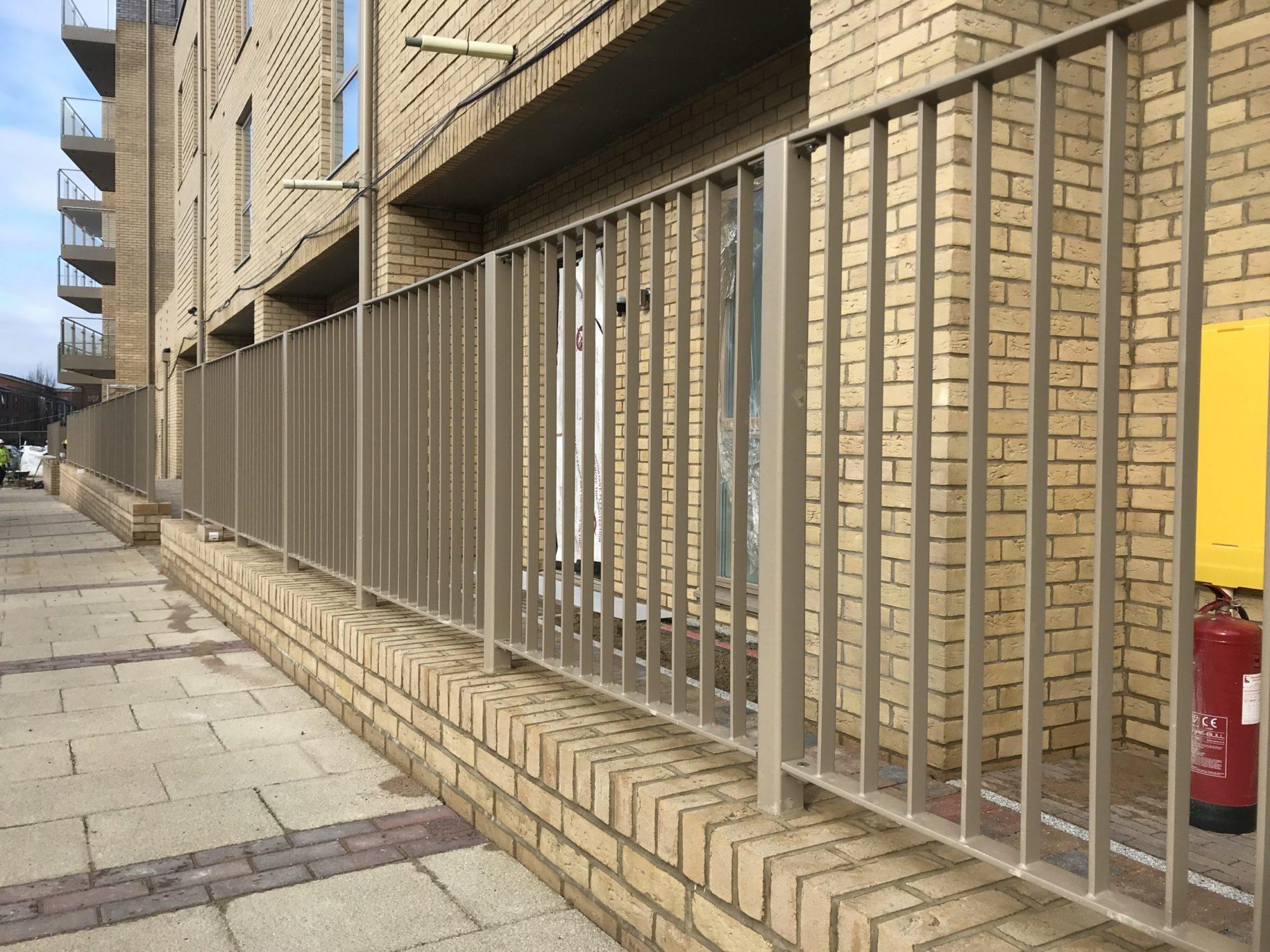 Stonebridge Estate flat bar infill railings