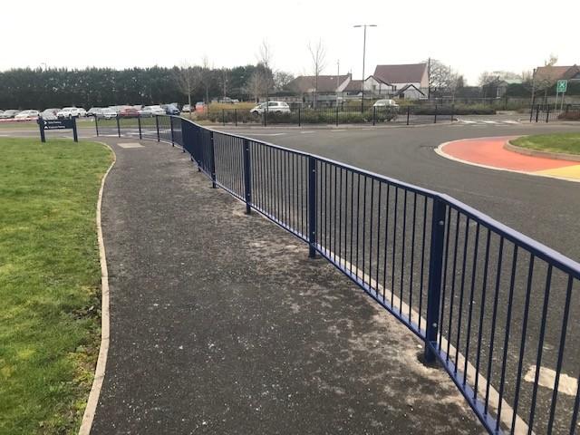 Pedestrian Guardrail Airbus Bristol